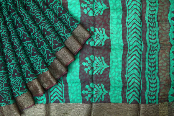 Online shopping for Brown Handloom Kota Silk Saree