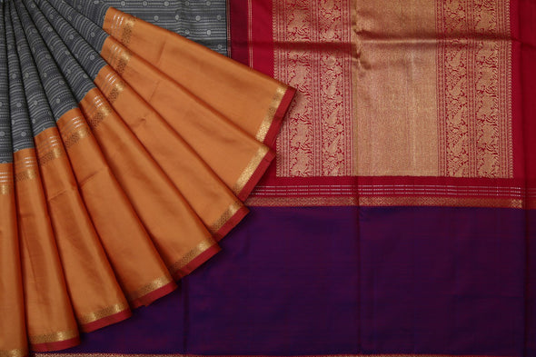 Multi Color Kanchipuram Silk Handloom Saree