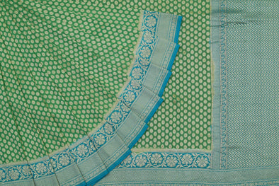Green and Blue Banarasi Georgette Saree