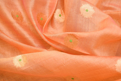 Light Sandal Uppada Silk Unstitched Blouse Fabric-1.05MTR
