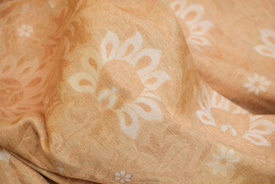 Oat Meal White Banarasi Silk Unstitched Blouse Fabric-95CM