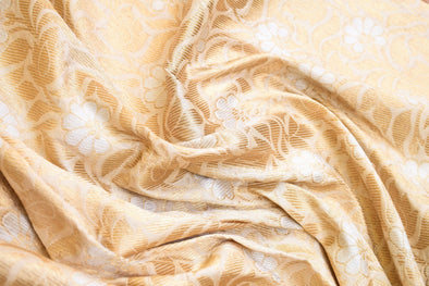 Creamy Wheat Banarasi Silk Unstitched Blouse Fabric-80 CM