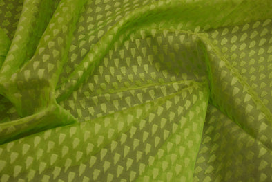 Apple Green Organza Unstitched Blouse Fabric-1.4MTR