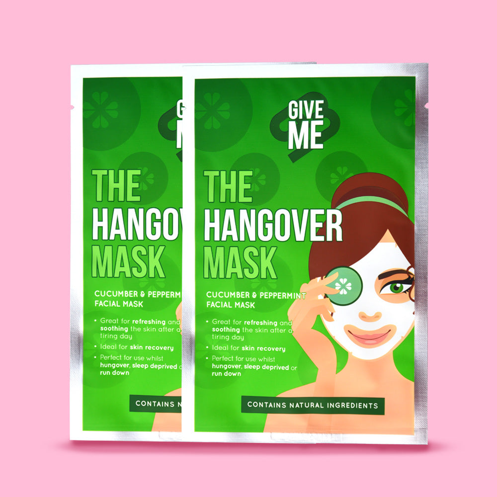 2 x The Hangover Mask - Cucumber & Peppermint Oil Facial Mask