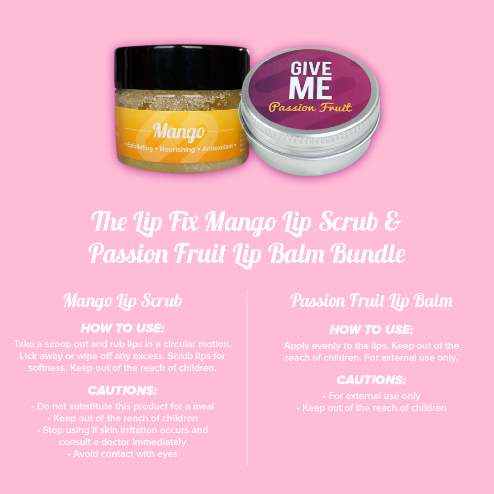 The Lip Fix - Mango Scrub + Passion Fruit Bundle