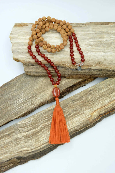 """The Fire Within"" Mala necklace"