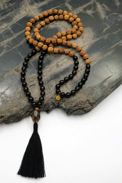 """Good Vibes Only"" Mala necklace"