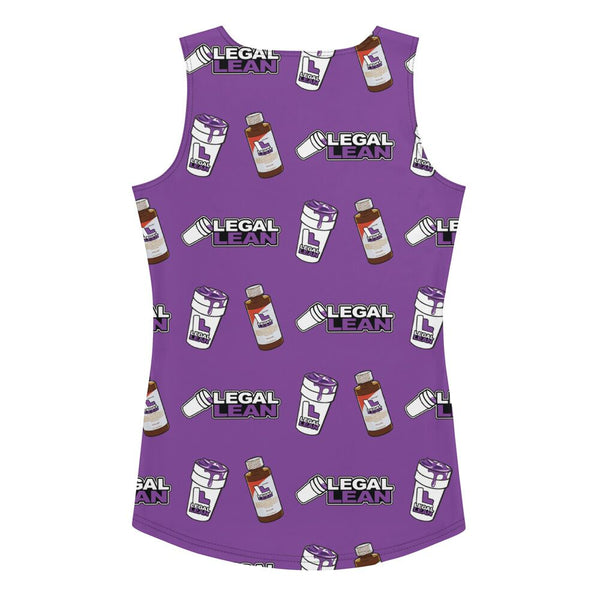 Legal Lean Womens Tank Top Purple