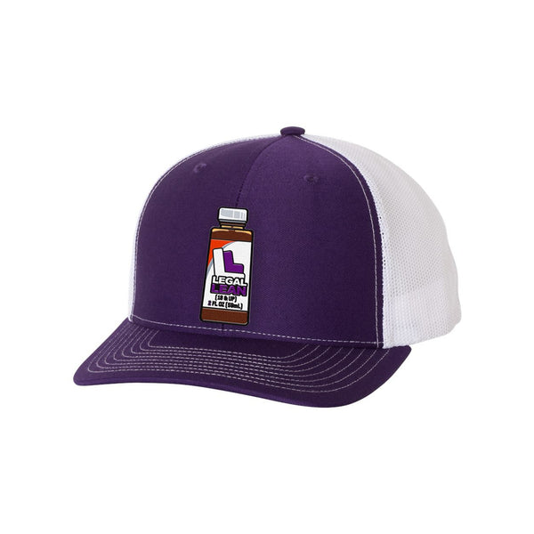 Purple Legal Lean Snapback Hat with Patch