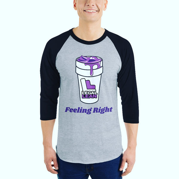 Grey Legal Lean Baseball Tee