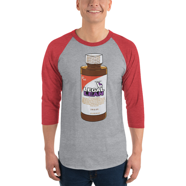 Legal Lean Bottle Baseball Tee