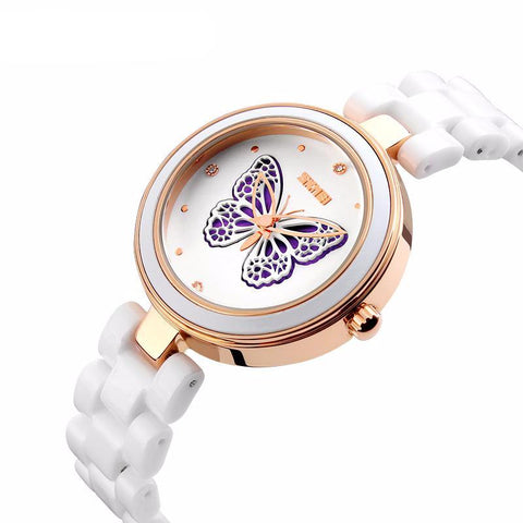 Rhinestone Ceramic Quartz Watche