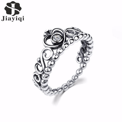 Silver Princess Tiara Rings For Women