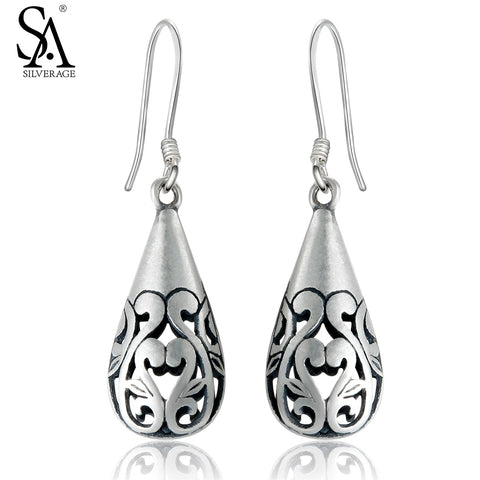 SILVER AGE 925 Sterling Silver Drop Earrings