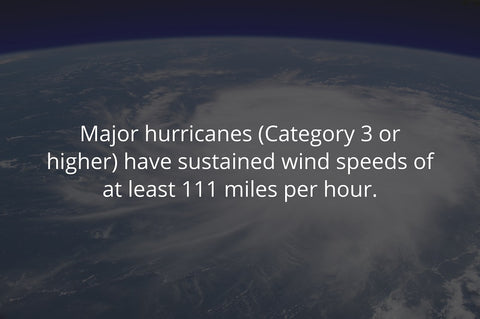 category 3 hurricanes or higher