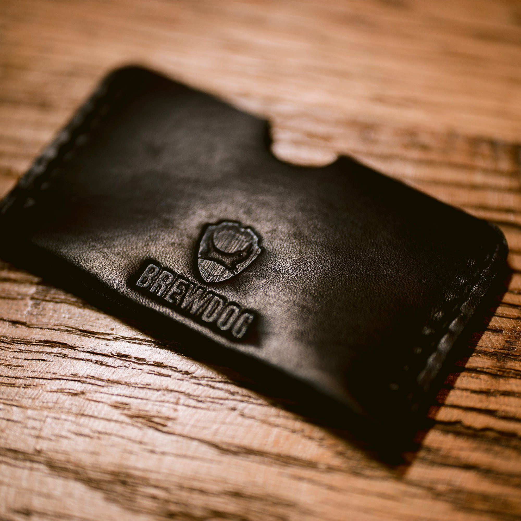 Black Leather Brewer's Wallet