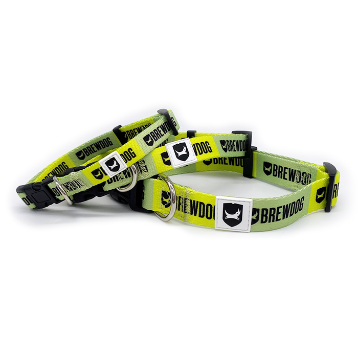 Dog Collar Green Stripe