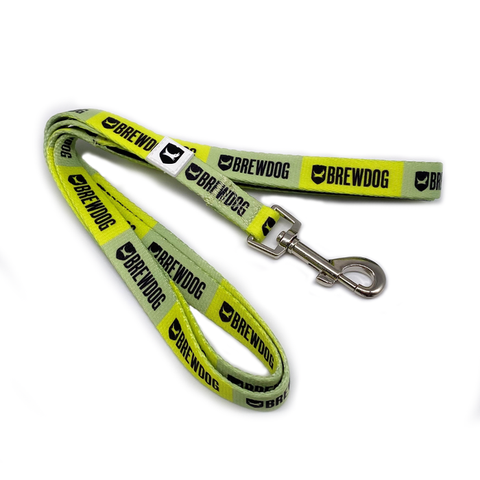 Dog Leash Green Stripe