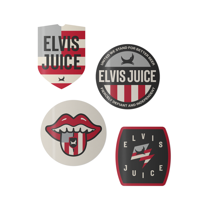 Elvis Juice Sticker Pack