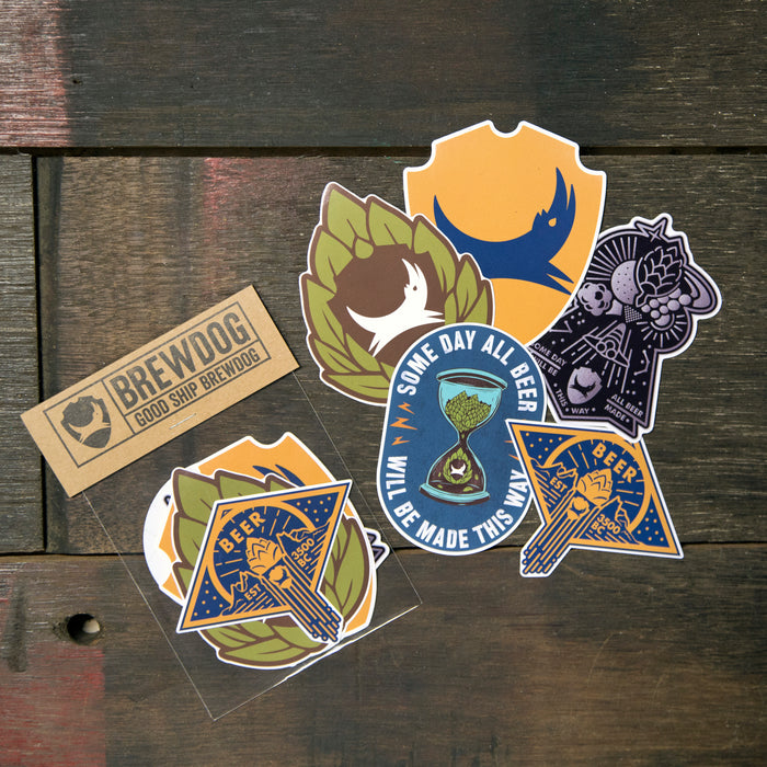 BrewDog Hop Graphic Sticker Pack Beer Merchandise
