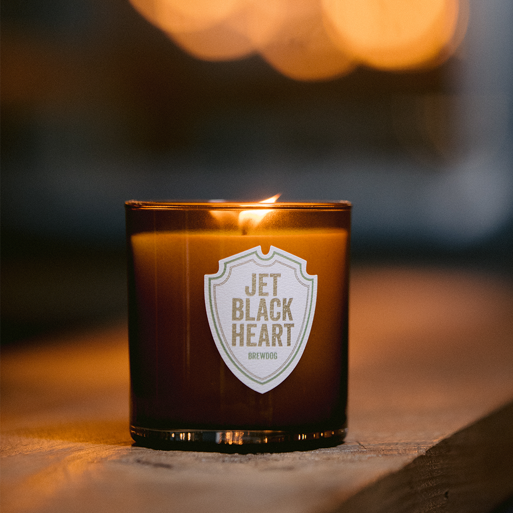 Jet Black Heart Candle