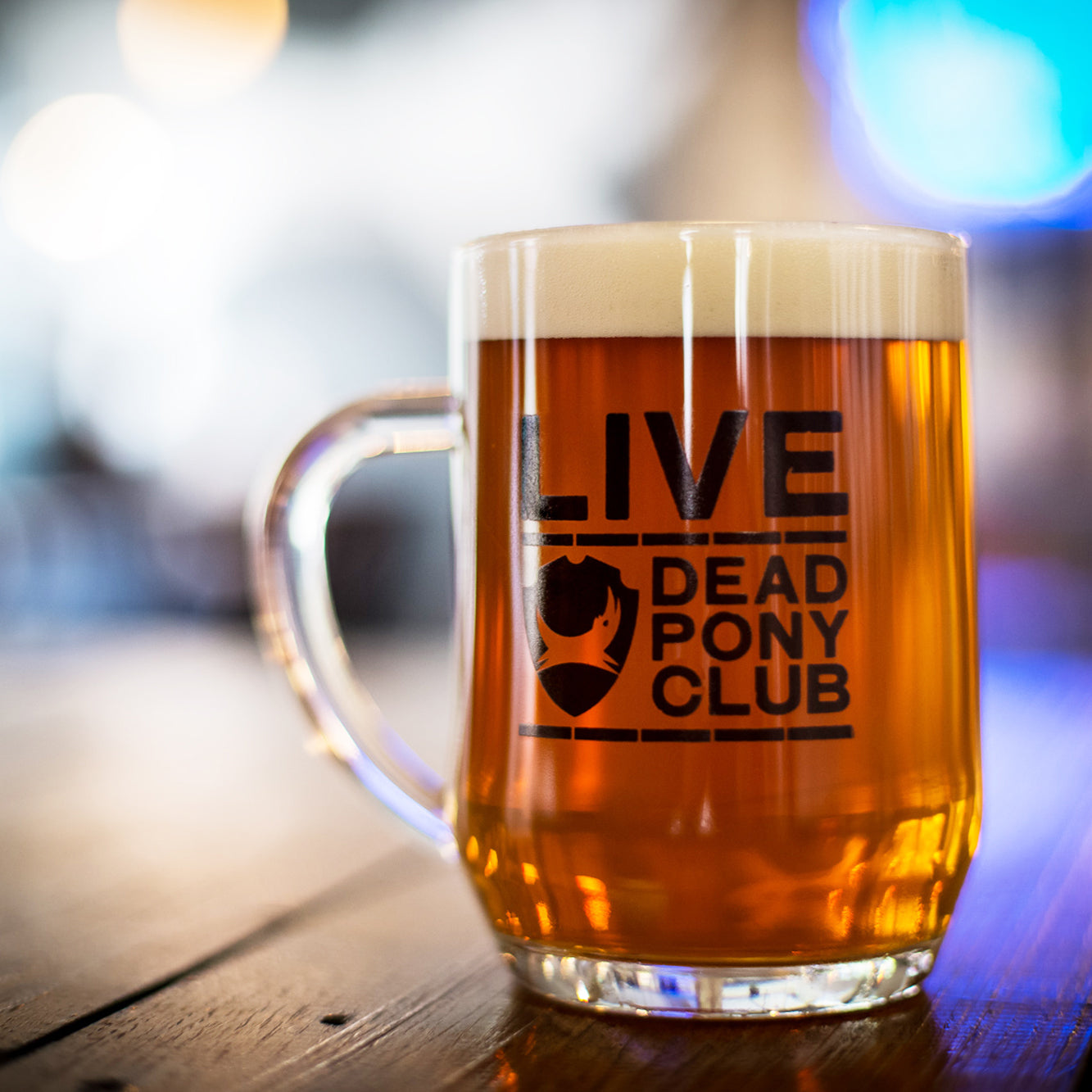Live Dead Pony Glass