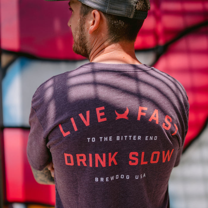 Live Fast Purple T-Shirt