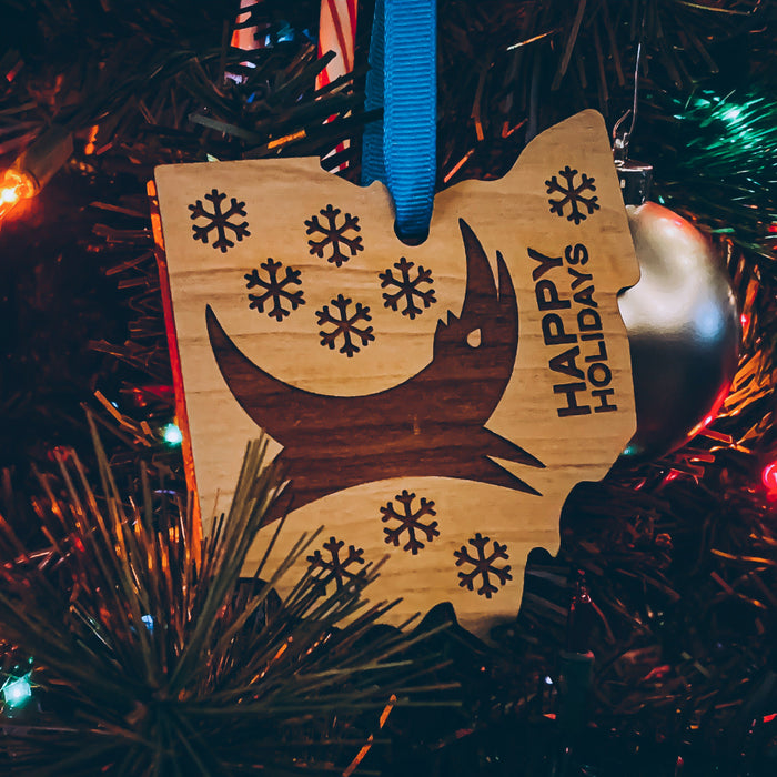 Ohio Dog Wooden Tree Ornament