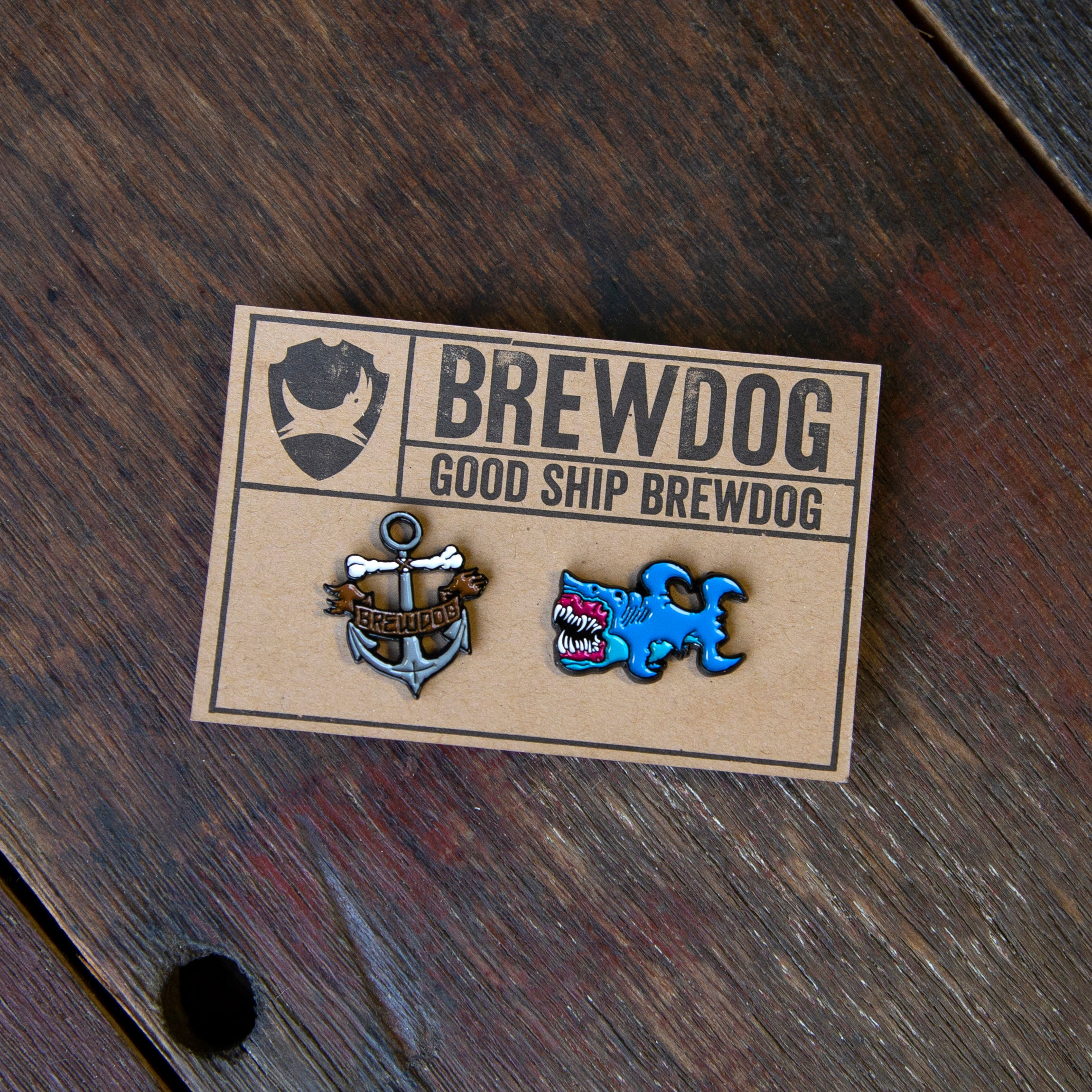 BrewDog Shark and Anchor Pin Badges Beer Merchandise