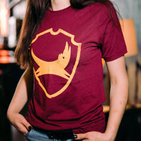 Shield Burgundy & Gold T-Shirt
