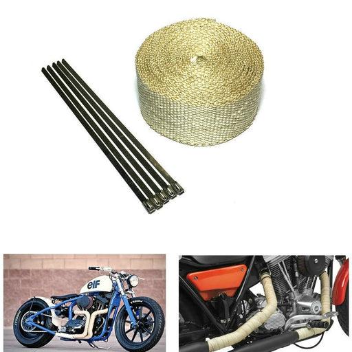 2in Beige Color Exhaust Heat Resistant Wrap