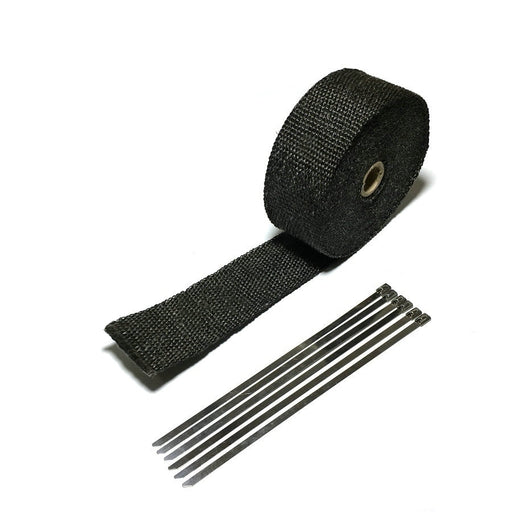 1inch Black Exhaust Wrap Motorcycle Exhaust Heat Shield