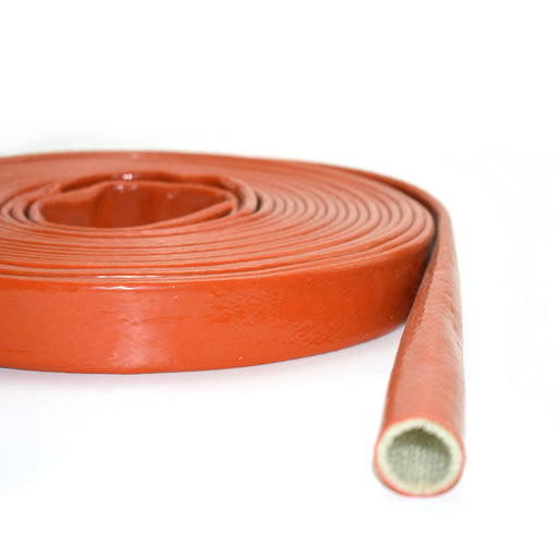 Red Fire Sleeving Flame Shield For Fuel System Protection Electric Wire Cable
