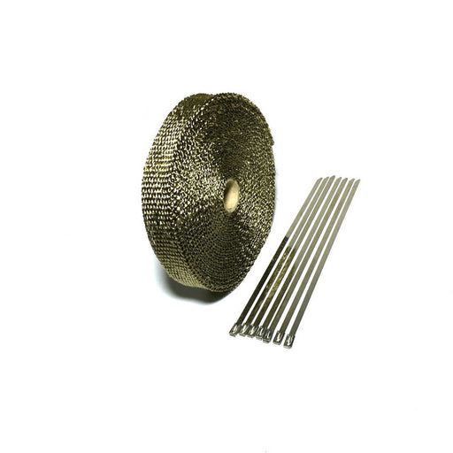 1in x 50ft/15m Exhaust Wrap Heat Shield Two Color