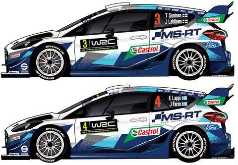 2020 M-Sport Ford World Rally Team Fiesta WRC Sticker Set