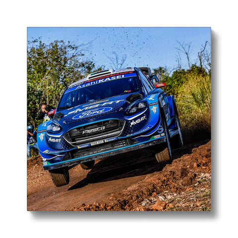 Elfyn Evans Rally Spain 2019 Canvas