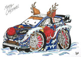 M-Sport Ford Fiesta WRC Christmas Cards (Pack of 4)