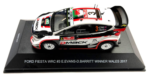 Elfyn Evans 2017 Wales Rally GB Winning Ford Fiesta WRC Model Signed by Malcolm Wilson