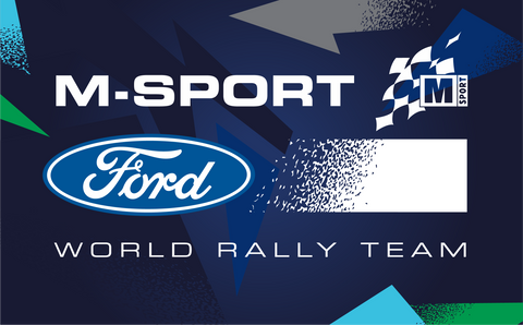 M-Sport Ford World Rally Team Pattern Logo Sticker