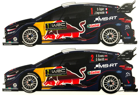 2018 M-Sport Ford World Rally Team Fiesta WRC Sticker Set