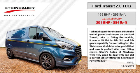 Ford Transit 2.0 TDCI Euro 6 Power Enhancement by Steinbauer