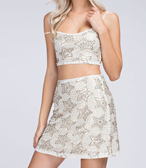 Embellished Star Crop Top