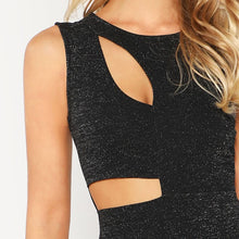 Glitter Cut Out Dress