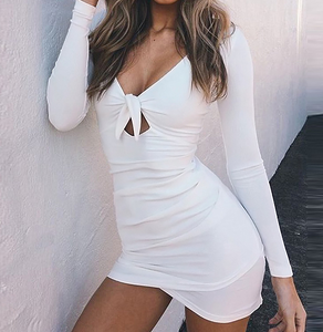 Knot Tie Mini Dress