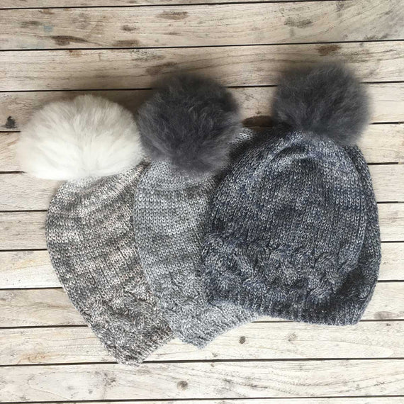 Samantha Holmes Frosted Beanie Hat with Pom