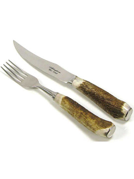 abbeyhorn steak knife and fork