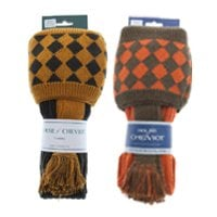House of Cheviot Chessboard Sock with Ties