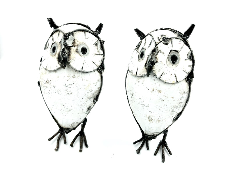 METAL OWL WHITE (TINY)