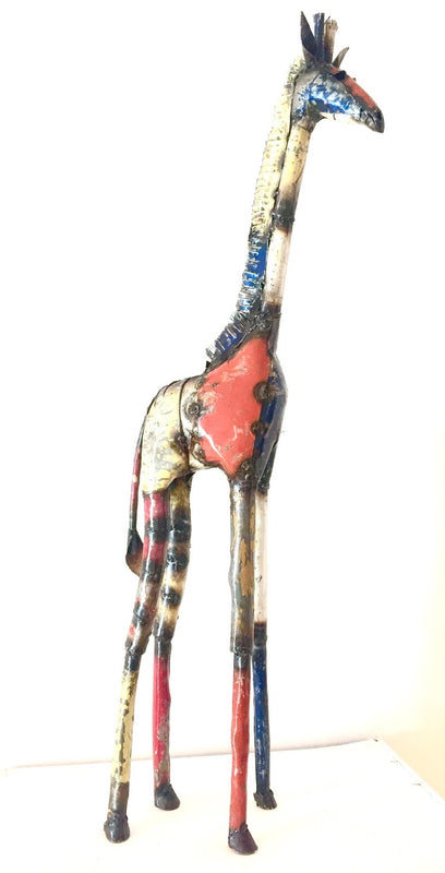Metal Giraffe Coloured (Tende)