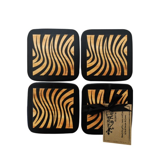 COASTERS ~ SET OF 4 HAND PAINTED (assorted)